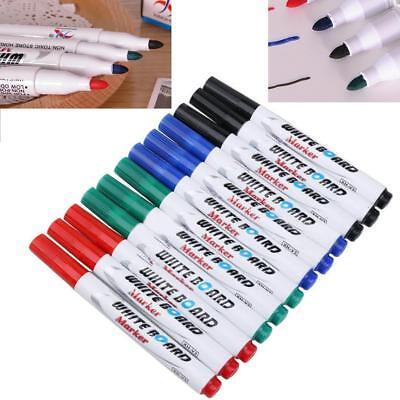 Dry Erase Whiteboard Markers Set Pen Black Marker Eraser Board Erasable Pens