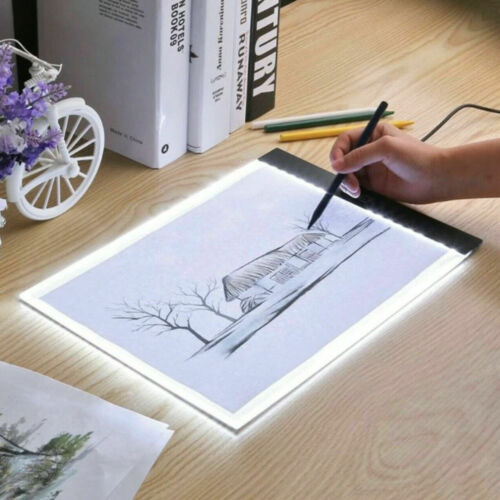 A4 LED Tracing Light Box Board Art Tattoo Drawing Copy Pad Table Diamond Display