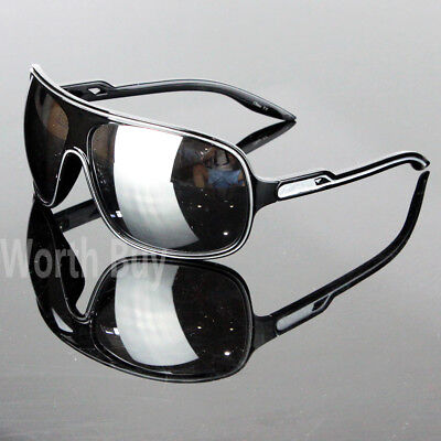 New 80s Mens Women Wrap Around Sunglasses Large Retro Vintage Designer