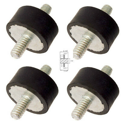 4 Rubber Vibration Isolator Mounts 1-14 Dia X 34 Ht 516-18 1316 Studs