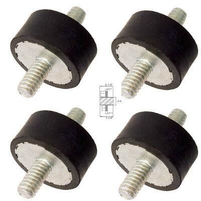 4 Rubber Vibration Isolator Mounts 1-14 Dia X 34 Ht 516-18 1316 Studs