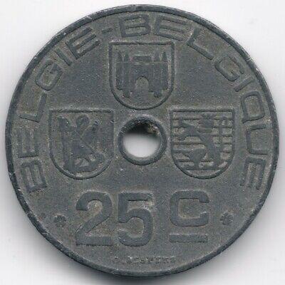Belgium : 25 Centimes 1942 Dutch - French Legend