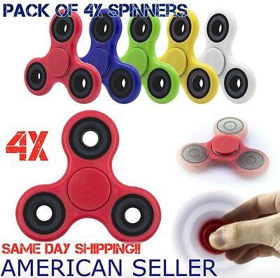 4 Pack Tri Spinner Fidget Spinner Hand Spin Finger Stress Desk Toy EDC ADHD@ @ #
