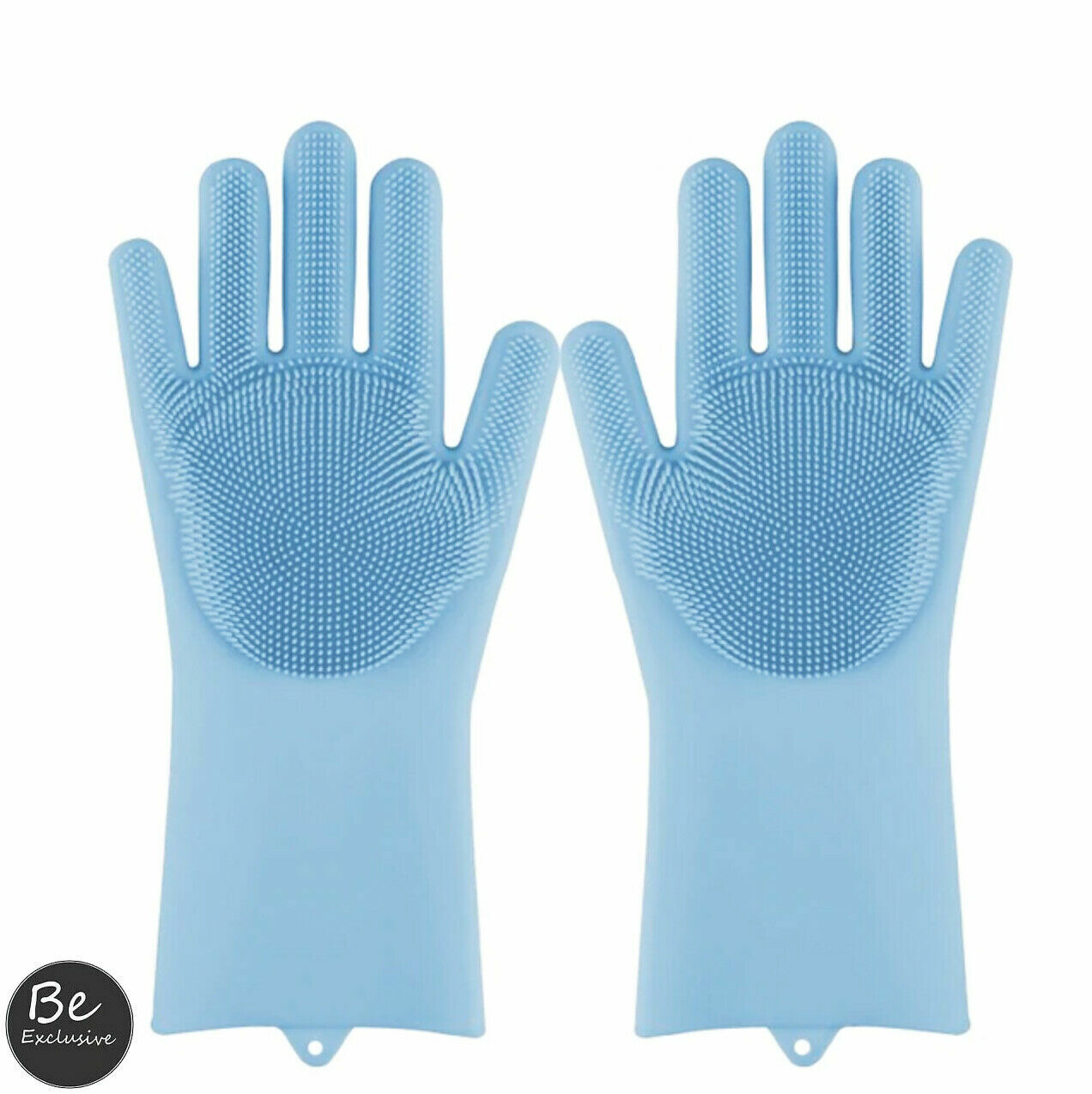 Magic Gloves Dish Washing Silicone Rubber Scrubber Cleaning Green Color 2 in 1 Cleaning Products