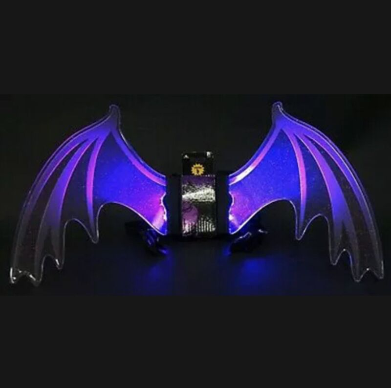 Disney Maleficent Youth Glow Wings Halloween Costume Light Up Cosplay Aurora New