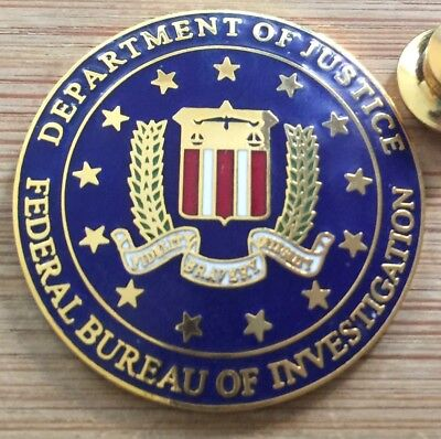 "FBI - Federal Bureau of Investigation VINTAGE ""NO STARBURST"" version lapel pin"