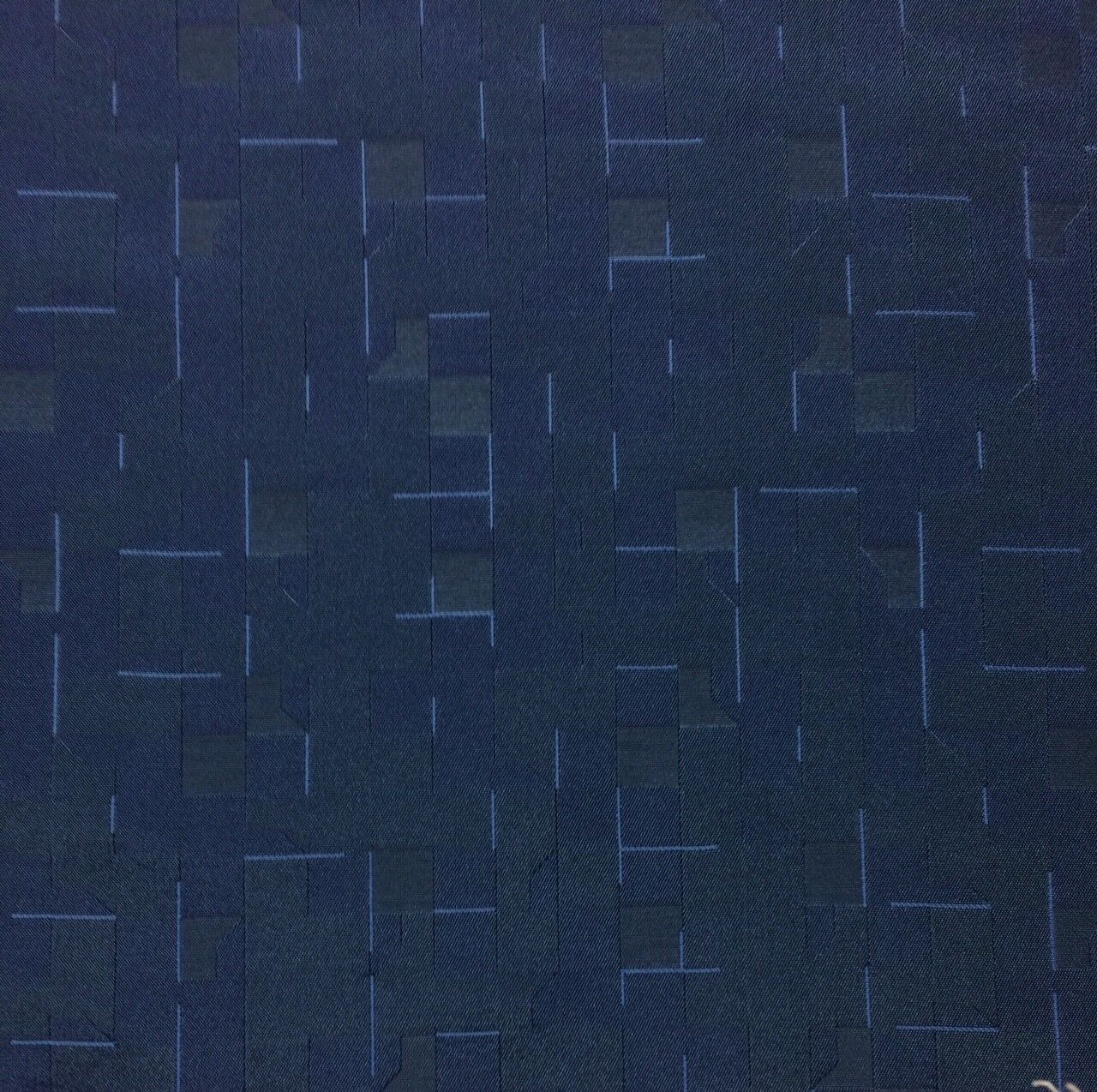 MODERN GEOMETRIC NAVY BLUE ABSTRACT FURNITURE UPHOLSTERY FAB