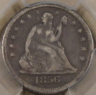 1856-O LIBERTY SEATED QUARTER PCGS VF-25