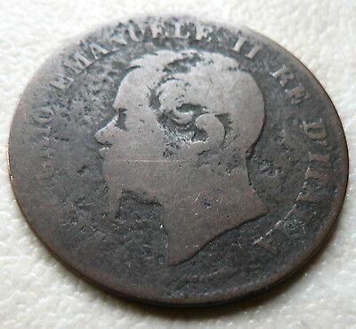 1861 M - ITALY - 5 CENTESIMI COIN - VITTORIO EMANUELE II