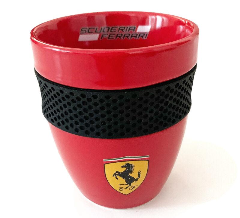 FERRARI SCUDERIA Ceramic Mug Cup Red with Rubber Grip