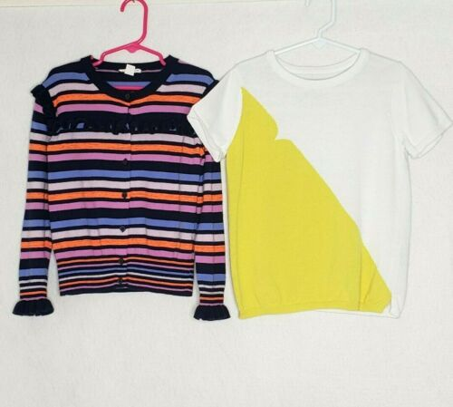 Crewcuts & Hunter for Target Size 6 6X 7 Lot of 2 Sweater Tops Cardigan Pullover