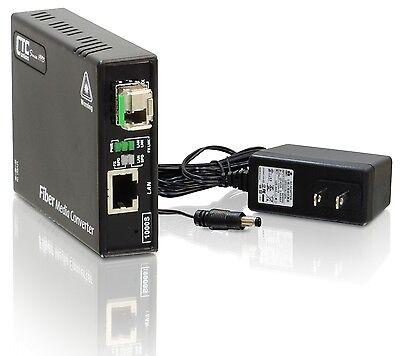Gigabit Ethernet to single-mode BiDi fiber media converter unmanaged 20Km A type