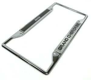 Chrome Jeep Grand Cherokee Emblem License Plate Frame