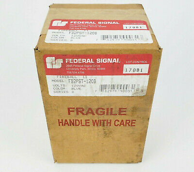 Federal Signal Fb2pst-120b Fireball Ii Blue Safety Indicating Light 120v New