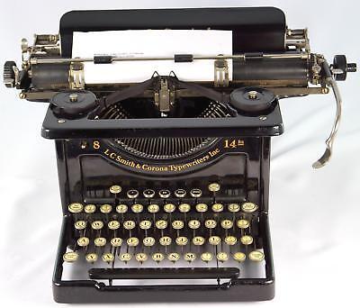 Máquina de escribir LC Smith & Corona 8-14 In, año 1926/30 serie 94553 2B 14