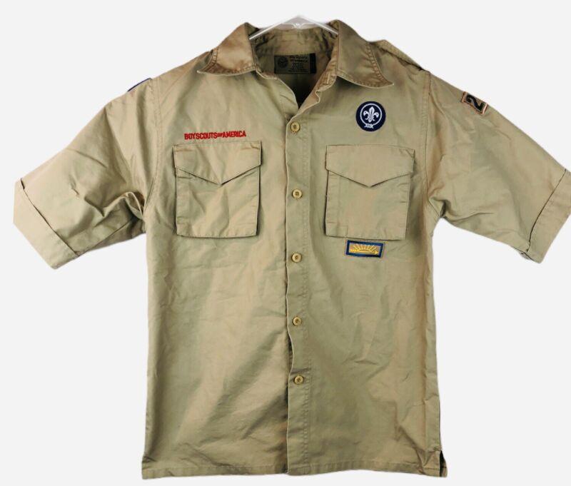 Boy Scout BSA UNIFORM SHIRT Youth Large Short Sleeve