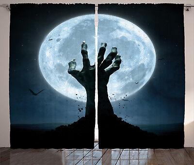 ains Zombie Grave Window Drapes 2 Panel Set 108x90 Inches (Halloween 2-panel)