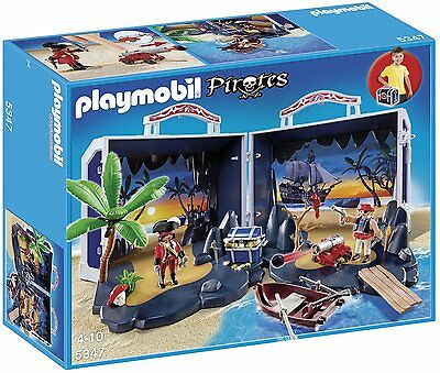 Playmobil 5347 Take Along Pirates Chest Ages 4+ Island Water Sea New Toy Gift