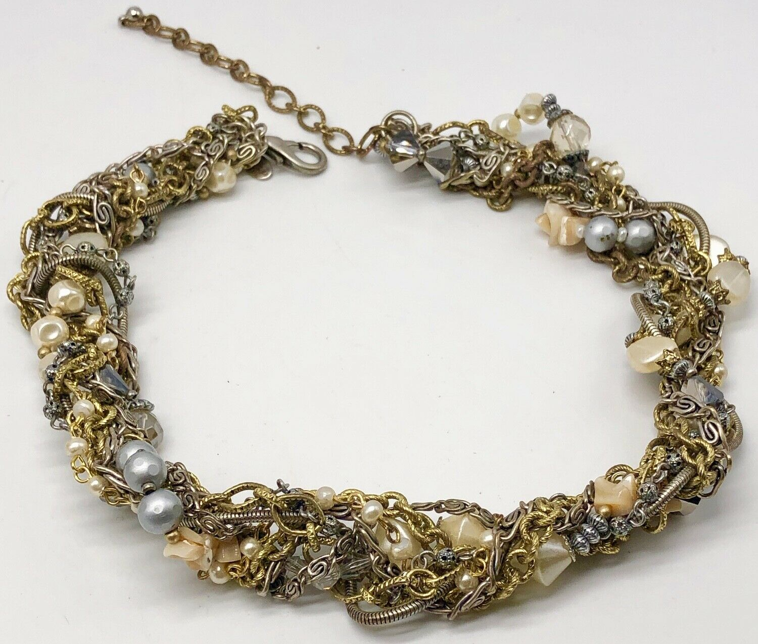 New Chico's Twisted Chains with Faux Pearls and Beads