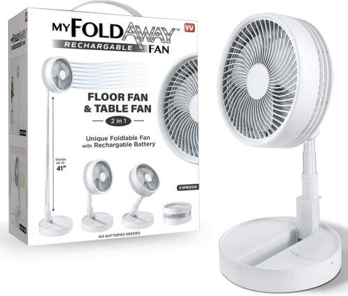 MY FOLDAWAY FAN - Rechargeable Ultra Lightweight Portable Compact Fan BRAND NEW