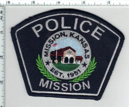 Mission Police (Kansas) uniform take-off patch from the 1980