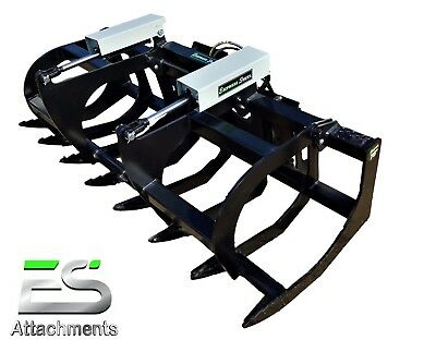Es 78 Heavy Duty Grapple- Powder Coated Skid Steer Quick Attach Local Pick Up