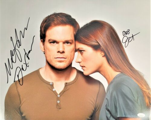 Michael C Hall Jennifer Carpenter Autograph Signed 16x20 Photo - Dexter(JSA COA)
