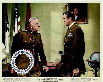 Lot of 3, Gary COOPER color stills COURT-MARTIAL OF BILLY MITCHELL (1955) vntORG