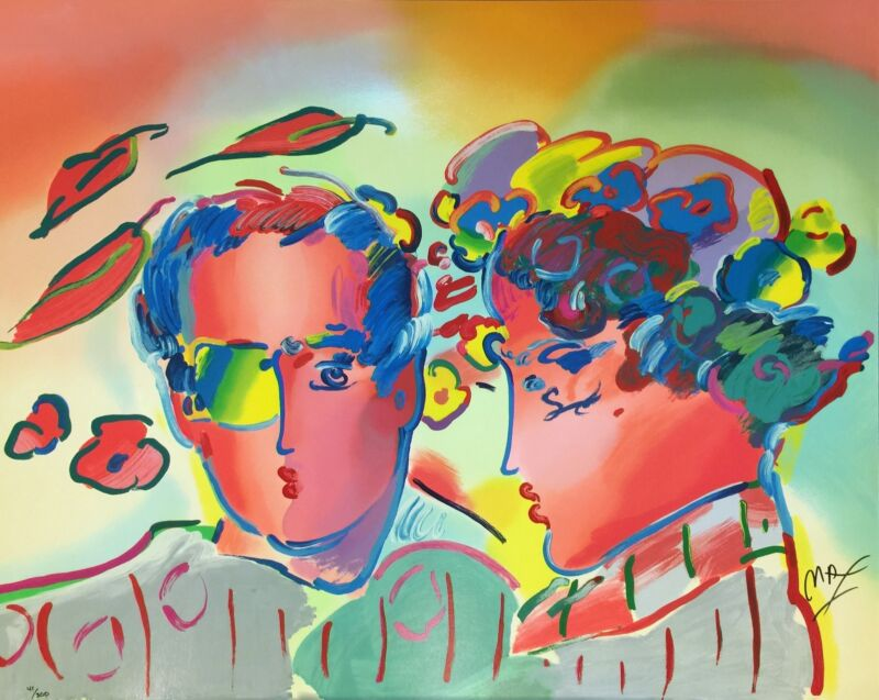 "PETER MAX ""ZERO IN LOVE"" 1990 