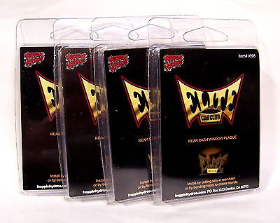 Hoppin Hydros 1/24 Scale Lowrider Car Club Plaque Elite (4 Pack)