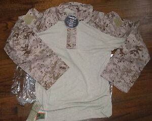 USMC-Desert-Marpat-Fire-Resistant-Combat-Shirt-Tencate-Defender-FROG-NWT-M-Long