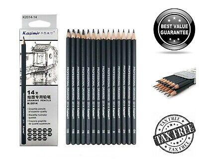 24 Count Professional Art Sketching Pencils Sketch Drawing Graphite Pencil Set](Graphite Pencil Drawing)