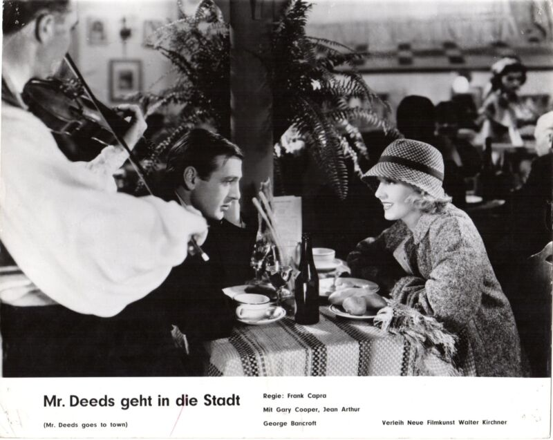 Mr. Deeds Goes to Town German lobby card Capra Gary Cooper, Jean Arthur Bancroft
