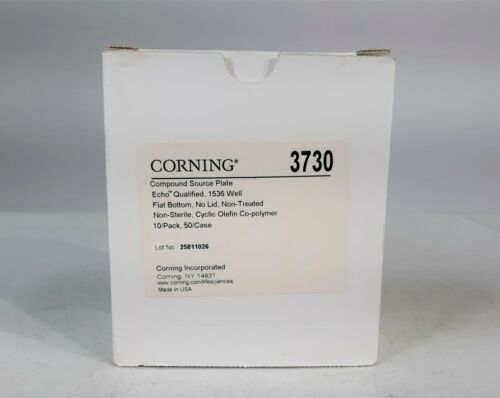 (10 Pack) Corning 3730 Compound Source Plate, 1536 Well Echo Microplate, SEALED