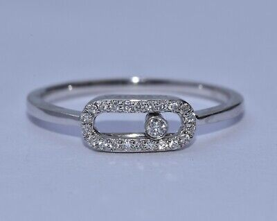 Messika Move Uno Pave Diamond Ring 18k