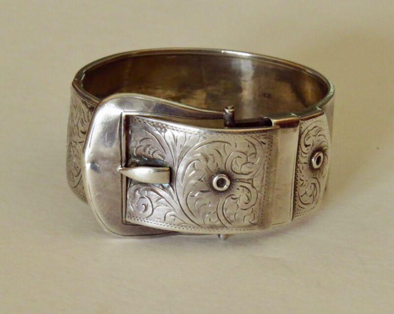 Vintage victorian sterling buckle bracelet
