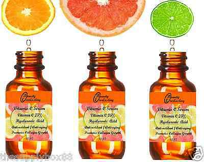 *PURE Vitamin C Serum *25% DOUBLE STRENGTH w Hyaluronic Acid