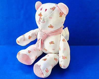 New Ralph Lauren Plush Pink & White Baby Children's Teddy Bear Toy