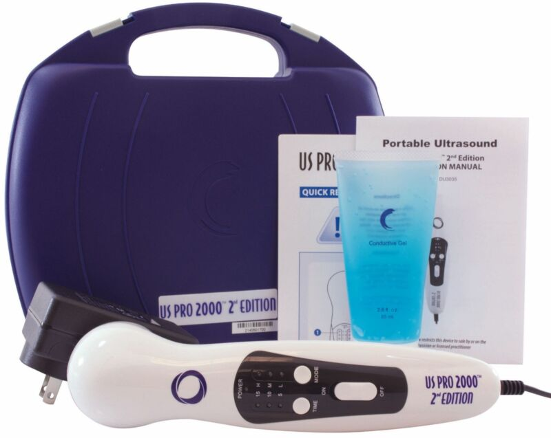 US Pro 2000 2nd Ultrasound Ultrasonic Professional Series Portable Pain Therapy