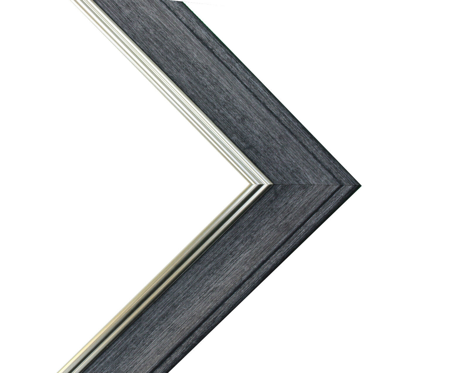 FRAMES BY POST Marco de Fotos Vintage Scandi A1 Image Size A2 Charcoal Grey with Blue Mount