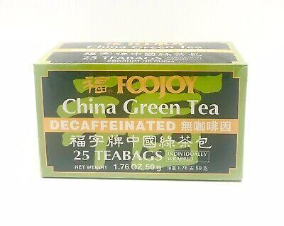 Foojoy China Green Tea Decaffeinated 25 Tea Bag-FREE SHIPPING ()