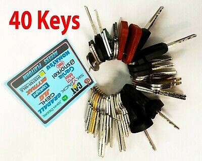 40 Keys Heavy Equipment Machines Construction Master Ignition Key Set - Bonus