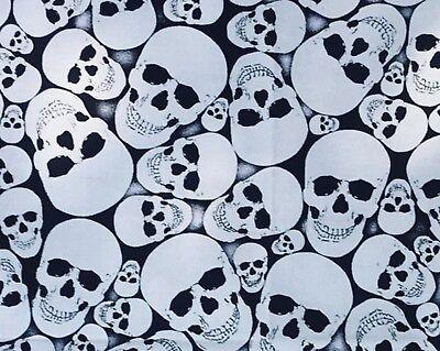 Glow in the Dark Skulls Bandana Head band Scarf Biker Gothic Chemo feeanddave