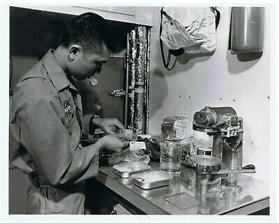 MCDONNELL DOUGLAS~CHOW TIME-FOOD PREPARATION AREA-SPACE STATION SIMULATOR~NASA