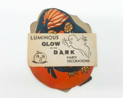 Vintage Halloween Luminous Glow in the Dark Party Decorations 1940s - 1960s NEW