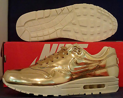 Womens Nike Air Max 1 SP Liquid Gold SZ 9.5 /// Mens Size US 8 ( 616170-700 )