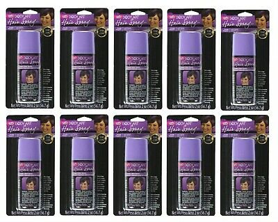 10 PACK ~ Tulip Body Art Hair Spray, Purple, 2 Oz Each BRAND NEW / SEALED PACKED - Purple Hairspray