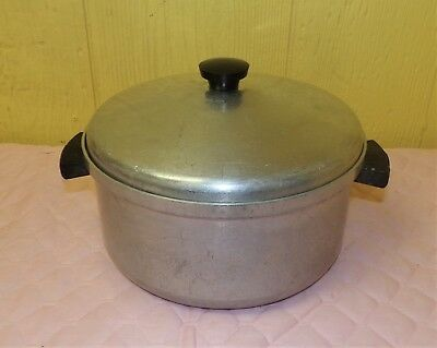 Vtg Aluminum Cookware MW Wards Best 6 Qt Waterless Stock Sauce Pan Pot w/
