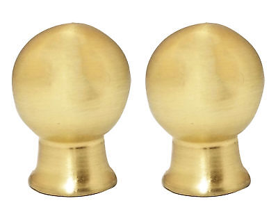 Shaped Polished Brass Lamp Finial (Royal Designs Ball Shape Polished Brass Lamp Finial, Set of)
