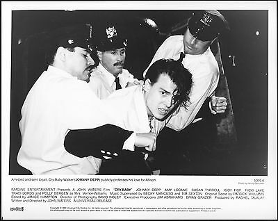 CRY BABY - 1990 - Original 8x10 Glossy Photo - JOHNNY DEPP being arrested!!